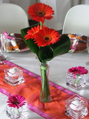 Gerbera Daisies Centrepiece for Wedding