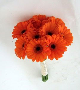 Brides Bouquet - Gerbera Daisy Orange