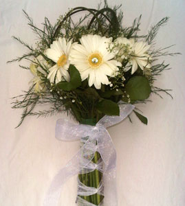 Brides Bouquet - Gerbera Daisy White