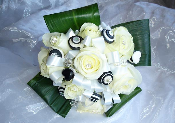Bridal Bouquet - Buttons & Roses