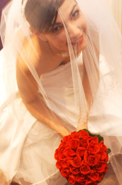 Bride With Hand-tied Wedding Bouquet