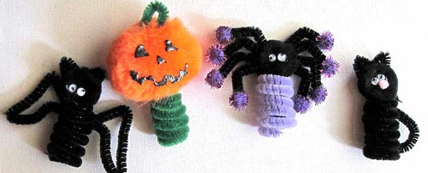 Halloween Party Ideas - Spider, Pumpkin & Black Cat Crafts