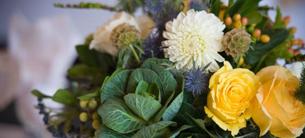 Mothers Day Bouquet: Kale Roses, Hypericum, Dahlias, Thistle, Poppy and Scabiosa Pods