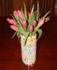 Valentines Day Flower & Candy Arrangement - Step 4-6